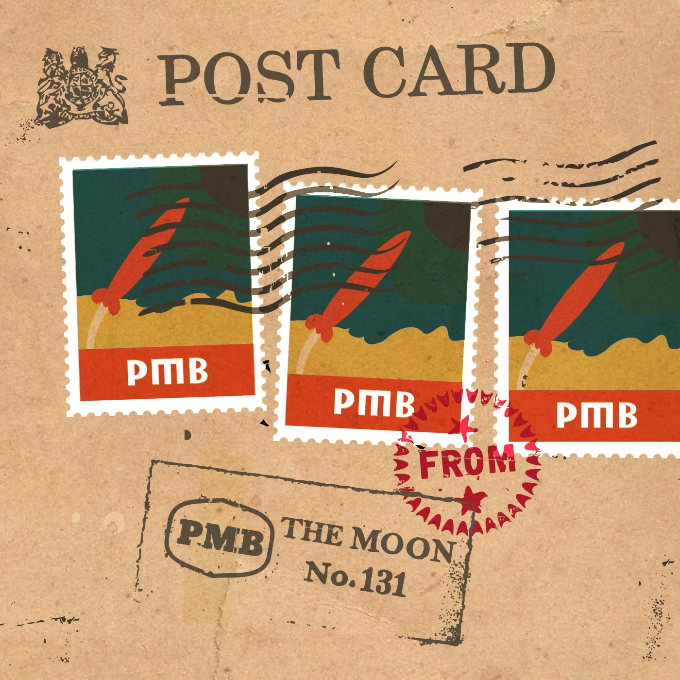 PMB131 Postcard from the Moon