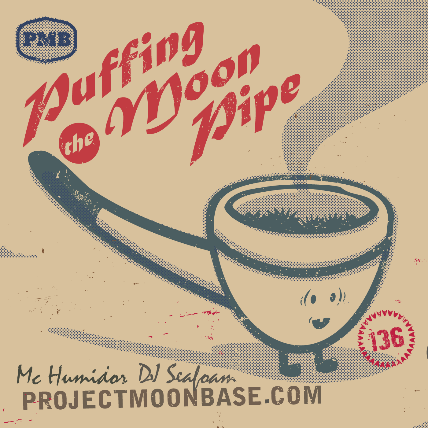 PMB136 Puffing on the Moon Pipe
