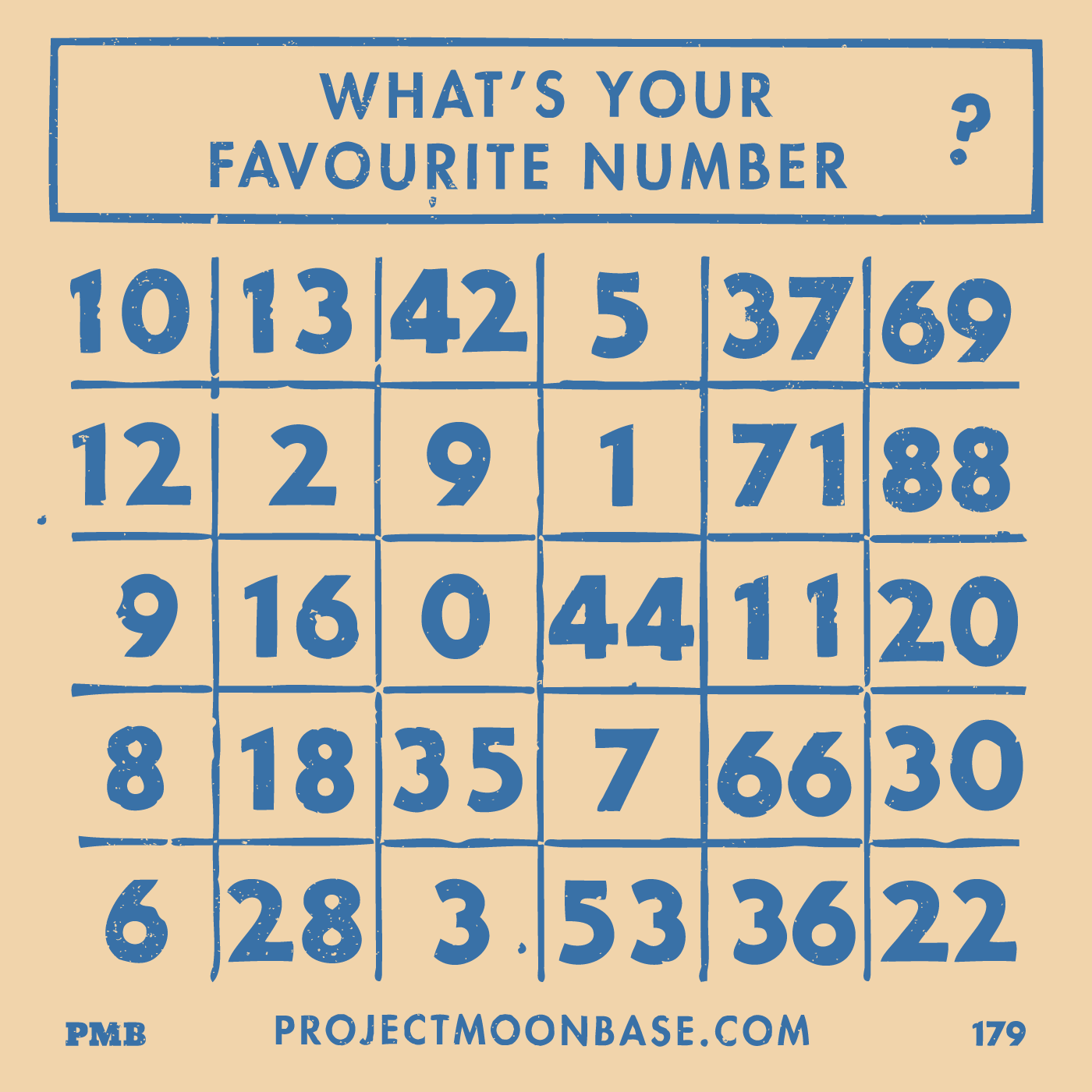 PMB179 What's Your Favourite Number?