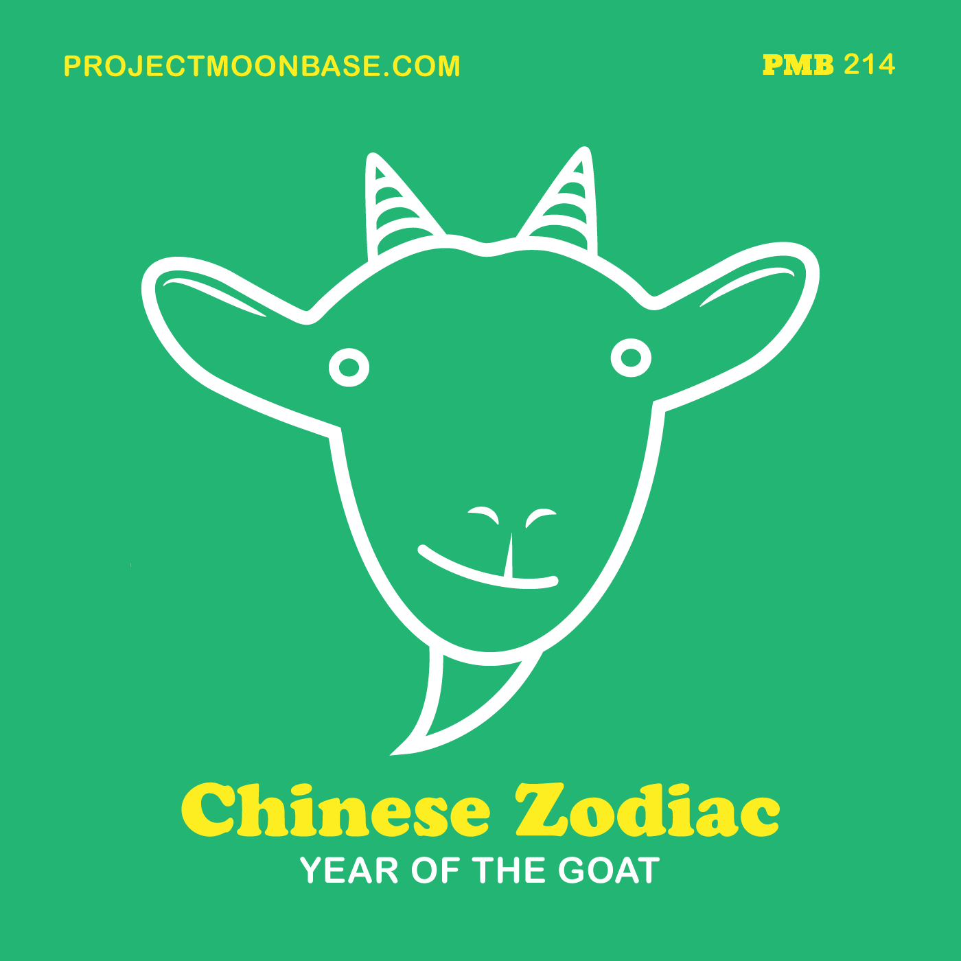 PMB214: Chinese Zodicac - Year of the Goat