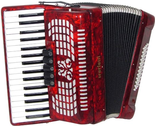Scarlatti 3 Voice 48 Bass Accordion Red