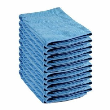 Lint Free Microfibre Exel Super Magic Cleaning Cloths For Polishing, Washing, Waxing And Dusting. Cleaning Accessories, Blue (Pack of 10)