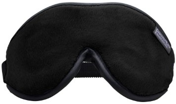 Dream Essentials Escape Luxurious Sleep Mask with Free Carry Pouch and Earplugs - New & Improved Soft Black